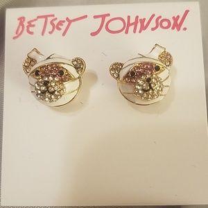 Betsey johnson mummy bear earrings NWT